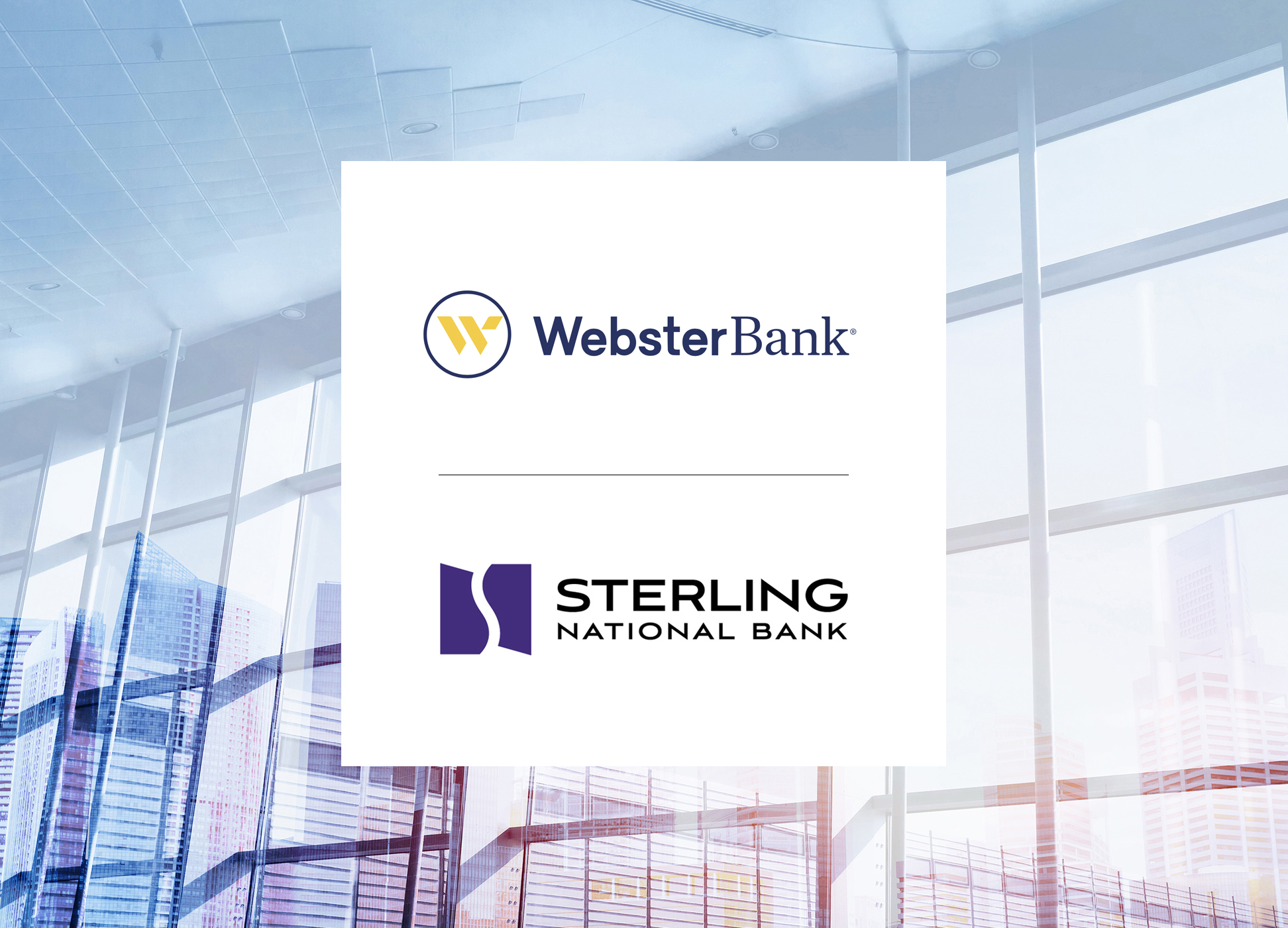 sterling national bank and webster bank logos